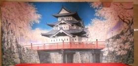 城と桜 10m×H5m